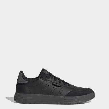 Men Sport Inspired Black Courtphase Shoes