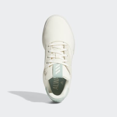 Youth Golf White Adicross Retro Spikeless Shoes