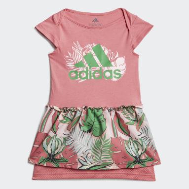 Mädchen Fitness & Training Flower Print Sommer-Set Rosa
