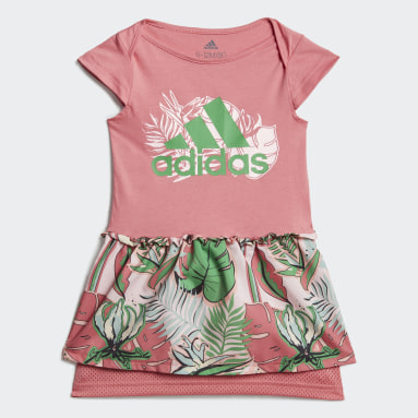 Girls Gym & Training Pink Flower Print Summer Set