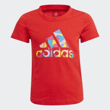 Camiseta adidas x Classic LEGO® Graphic Rojo Niña Gimnasio Y Entrenamiento