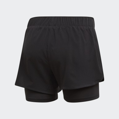 Women Running Black M10 Shorts