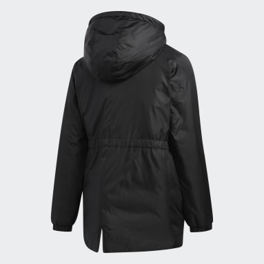 Girls Gym & Training Black Insulated Jacket
