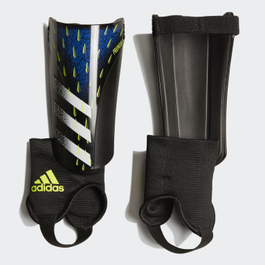 Youth 8-16 Years Football Black Predator Match Shin Guards
