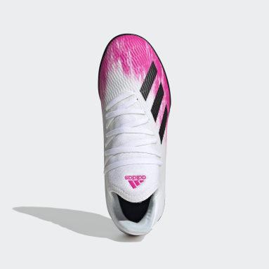 Zapatilla de fútbol X 19.3 moqueta Blanco Niño Fútbol