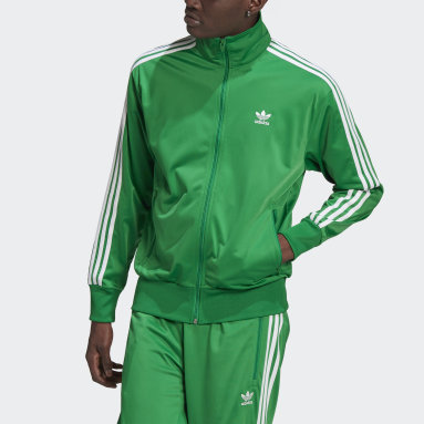 Men's Originals Green Adicolor Classics Firebird Track Jacket