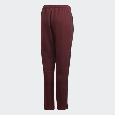 Kids Football Burgundy Tiro 19 French Terry Tracksuit Bottoms