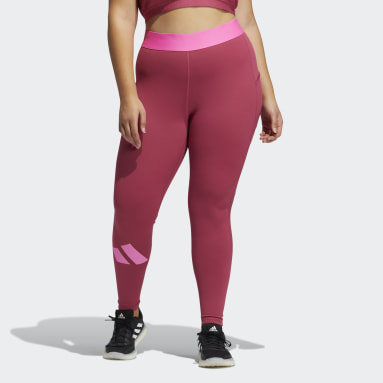 Frauen Fitness & Training Techfit Life Mid-Rise Badge of Sport Lange Tight – Große Größen Rosa