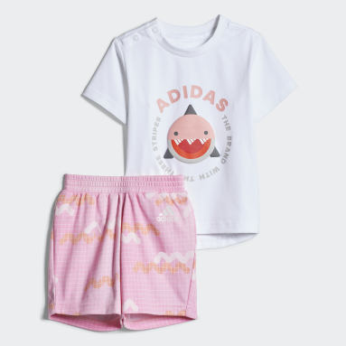 Infants Training White Tee Shorts Set