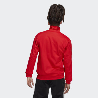 Muži Originals červená Tepláková bunda Adicolor Classics Beckenbauer Primeblue