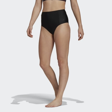 High-Waisted Bikiniunderdel Svart