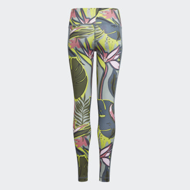 Youth Training White AEROREADY Allover Print Tights