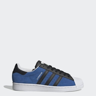 Women Originals Blue Superstar Shoes