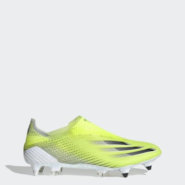 Football Yellow X Ghosted+ Soft Ground Boots