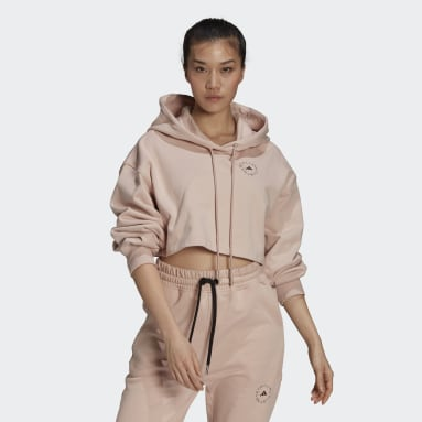 adidas by Stella McCartney FuturePlayground Cropped Hettegenser Rosa