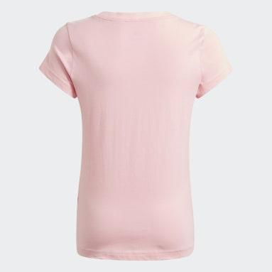 Remera adidas Essentials Rosa Niña Diseño Deportivo