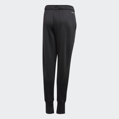 เด็กผู้หญิง เทรนนิง สีดำ กางเกงขาสอบ UP2MV AEROREADY