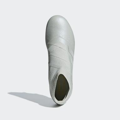 Calzado de Fútbol Nemeziz 18+ Terreno Firme Gris Hombre Fútbol