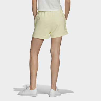 Women Originals Yellow Tennis Luxe 3-Stripes Shorts