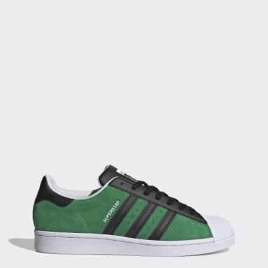 Mænd Originals Grøn Superstar sko