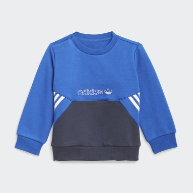 Ensemble adidas SPRT Collection Crew Bleu Enfants Originals