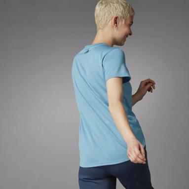 T-shirt 3 Bar Logo Bleu Femmes Running