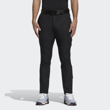 Men Golf Black Debossed Pants