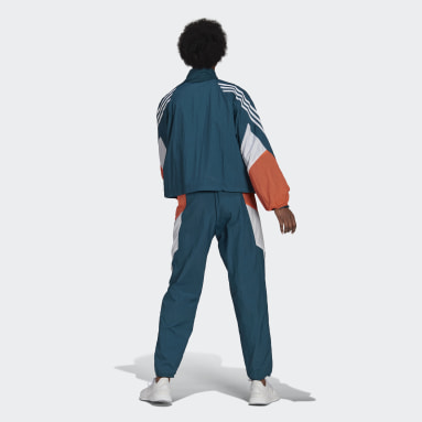 Women Sportswear Turquoise adidas Sportswear Game-Time Woven Track Suit