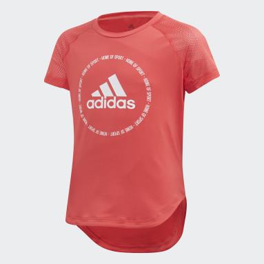 Mädchen Yoga Bold T-Shirt Rosa