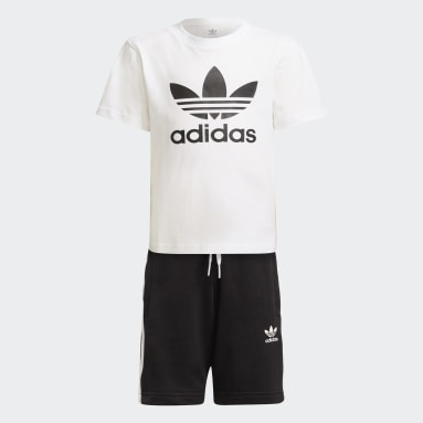 Completo adicolor Shorts and Tee Bianco Bambini Originals