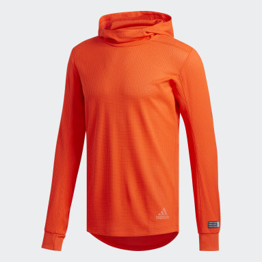Sweat-shirt à capuche Adapt to Chaos Orange Hommes Running