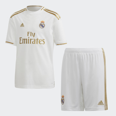 Kinderen Voetbal Wit Real Madrid Jeugd Thuistenue