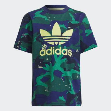 Conjunto de T-shirt e Calções Azul Rapazes Originals