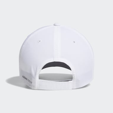 Youth 8-16 Years Golf White Crestable Performance Cap