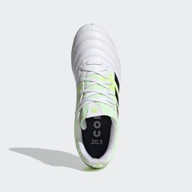 Boys Football White Copa 20.3 Firm Ground Boots