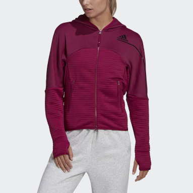 Women Sportswear Burgundy adidas Z.N.E. COLD.RDY Athletics Hoodie