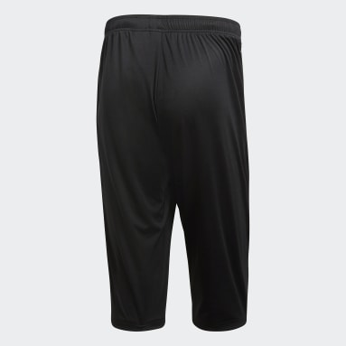 Men Gym & Training Black Core 18 3/4 Pants