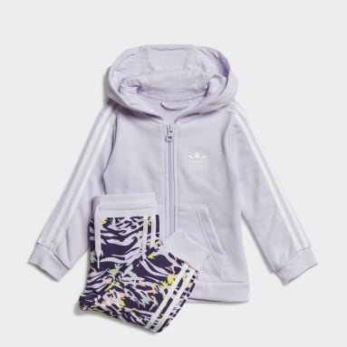 Girls Originals Purple Hoodie Set