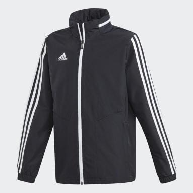 Youth 8-16 Years Gym & Training Black Tiro 19 All-Weather Jacket
