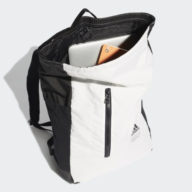 Lifestyle White Classic Top-Zip Backpack