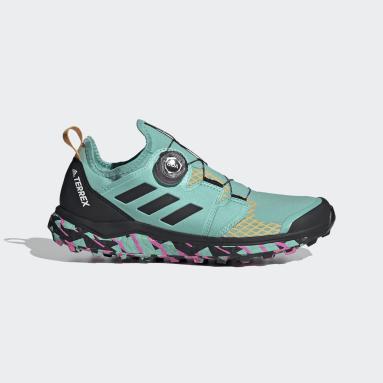 Sapatos de Trail Running BOA® TERREX Agravic Verde Mulher TERREX