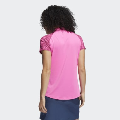 Women Golf Pink Ultimate365 Primegreen Printed Polo Shirt
