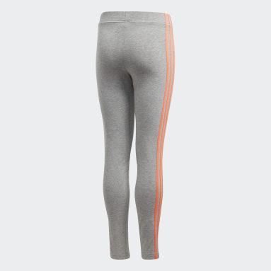 Tight Essentials 3-Stripes Gris Filles Fitness Et Training