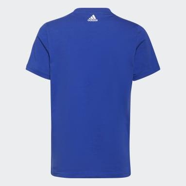 Youth Training Blue adidas Essentials Logo Tee