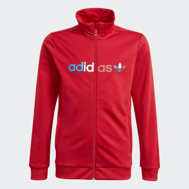 Kids Originals Red Adicolor Track Jacket