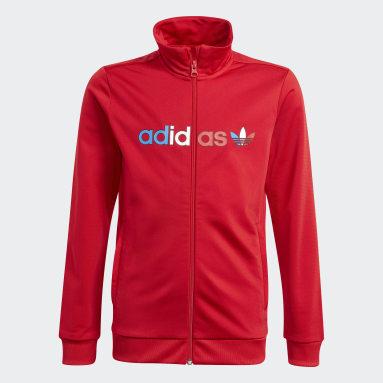 Děti Originals červená Sportovní bunda Adicolor