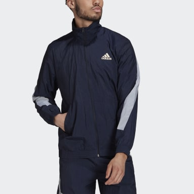 Men's Sportswear Blue adidas Sportswear Mesh Pop Track Top