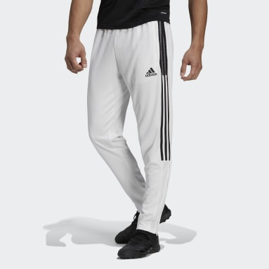Men Football White Tiro Tracksuit Bottoms