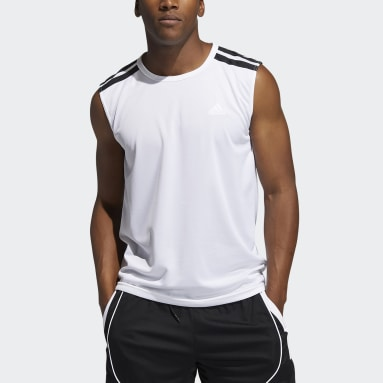 Men Basketball White All World Tank Top
