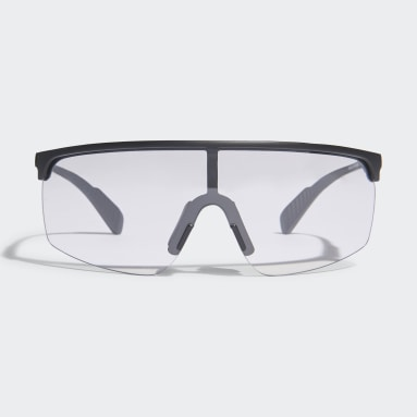 Padel-Tennis SP0005 Shiny Black Injected Sport Sonnenbrille Schwarz